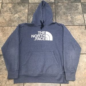 VTG The North Face Hooded Sweatshirt Size Large